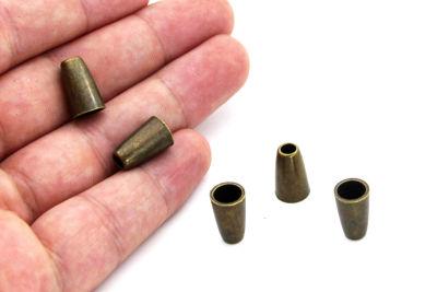 - 8x13 mm FULAR UCU HUNİ APARAT ZAMAK DÖKÜM, ANTİK SARI RENK